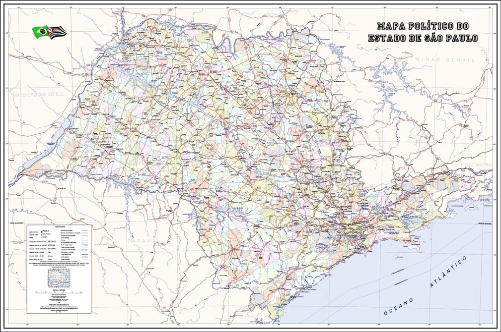 mapa politico sao paulo sp
