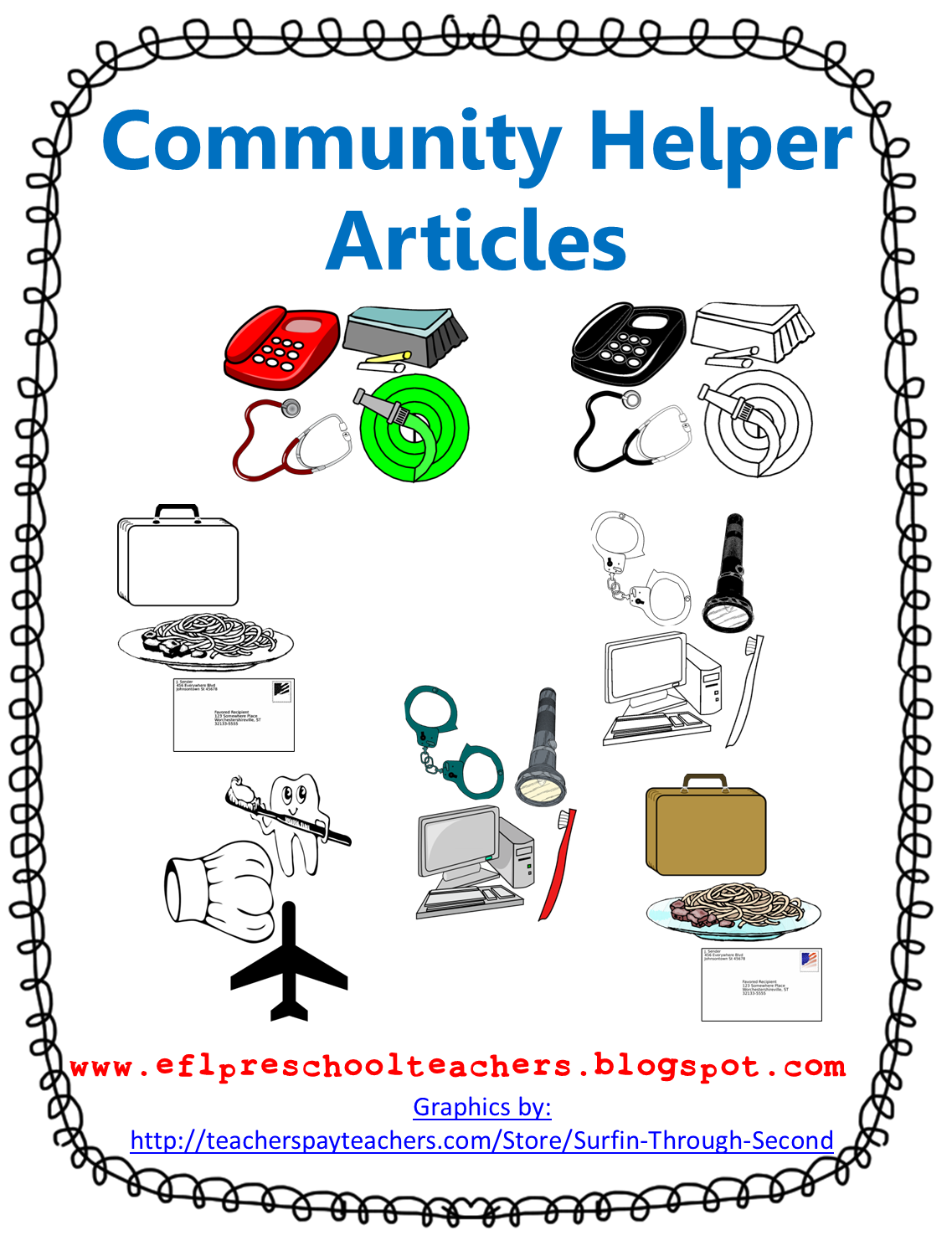 Esl Efl Preschool Teachers Community Helpers Resources
