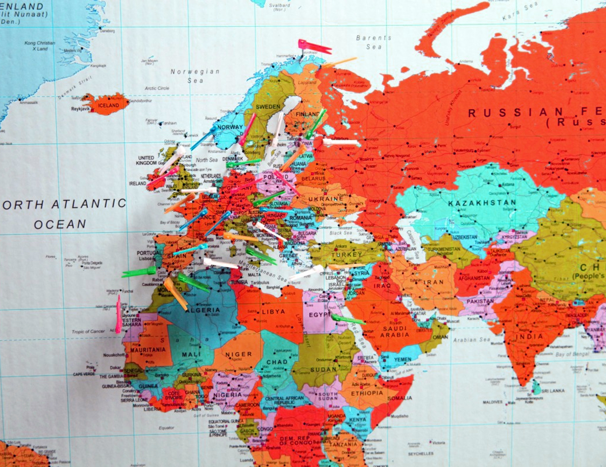 picture of world globe - america cultures are welcome, not ideologies
