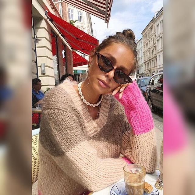 Γυναικείο χρωματιστό πουλόβερ CLARA