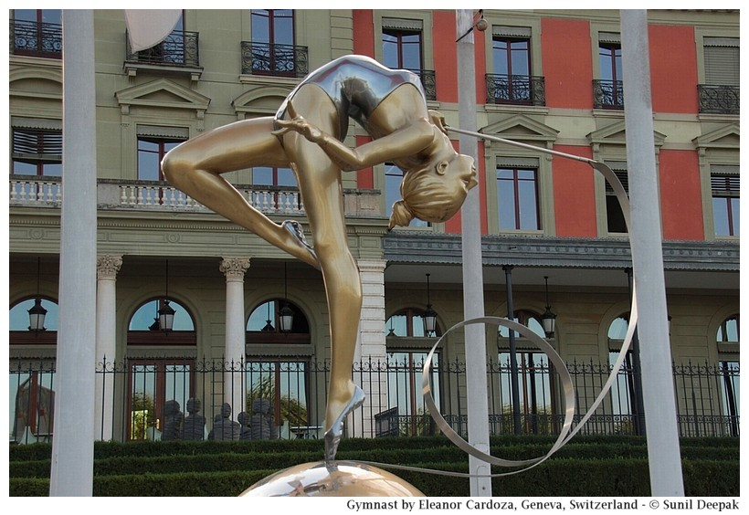 Sculptures of gymnastics and yoga - Geneva, Switzerland - Images by Sunil Deepak