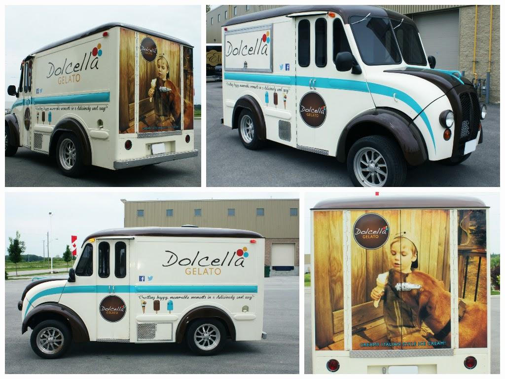Dolcella Gelato Truck Eminent Custom Graphics Inc