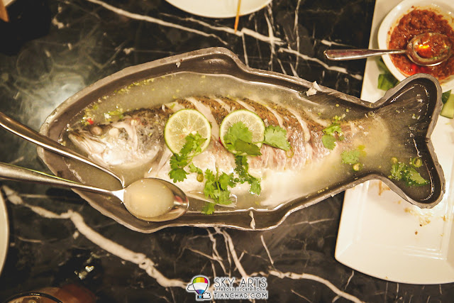 My favourite dish at Serai Pavilion KL - Steamed sea bass in lime sauce