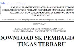 Download SK Pembagian Tugas Terbaru Rapih Enak Di Pandang