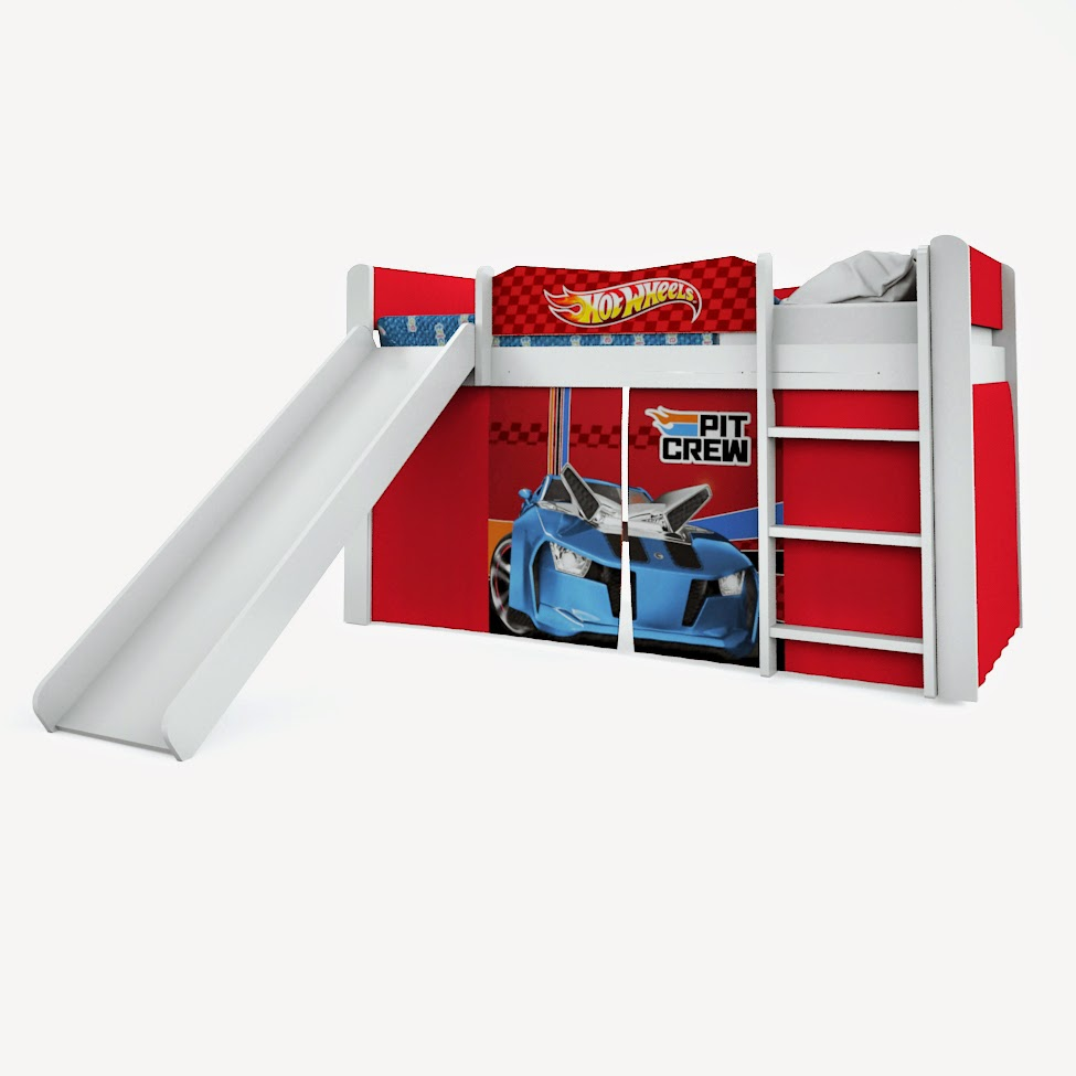 Cama Hot Wheels Play comescorregador pura magia