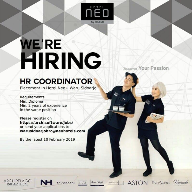 Neo Hotel Jogja: Lowongan Kerja HR Coordinator NEO Hotel