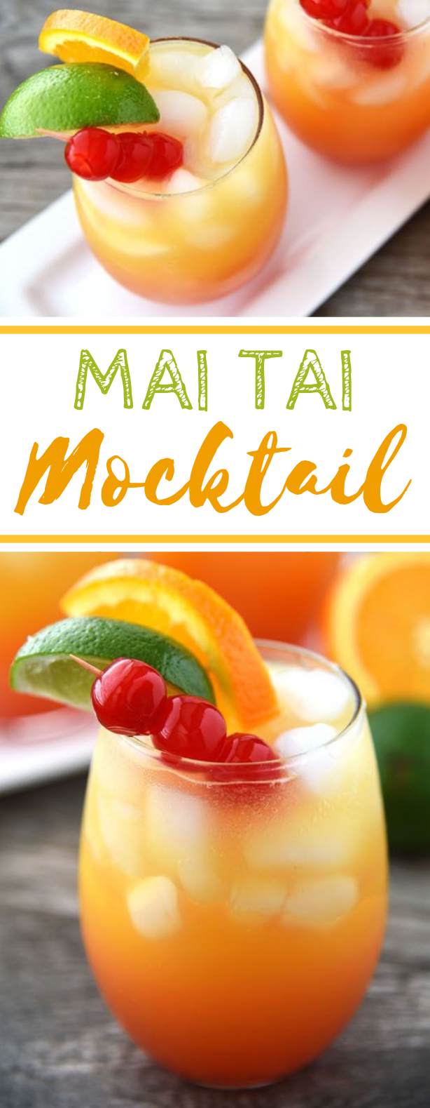 Mai Tai Mocktail #drink #nonalcohol