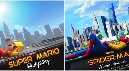 Recrean pósters de películas con el modo foto de Super Mario Oddysey
