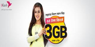 54 টাকা রিচার্জে 3GB (বাংলালিংক)