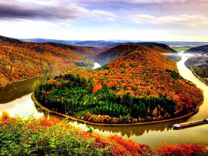 sonbaharda nehir resimleri