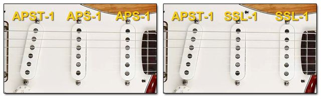 Diferentes Set de Pastillas para una Guitarra Stratocaster