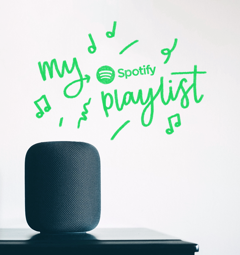 25 songs from my current favourite spotify playlist music apple homepod lettering