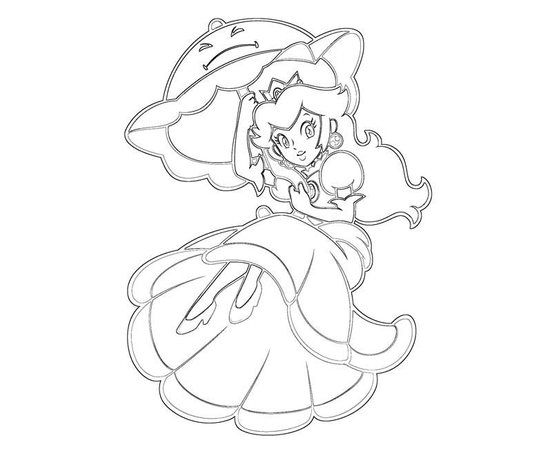 Peach Daisy Bowser Toad Picture Coloring Page Az Coloring Pages