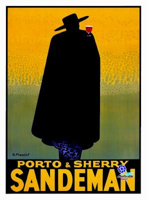 Bodegas Sandeman - Jerez  - Cartel publicitario 1930 - George Massiot