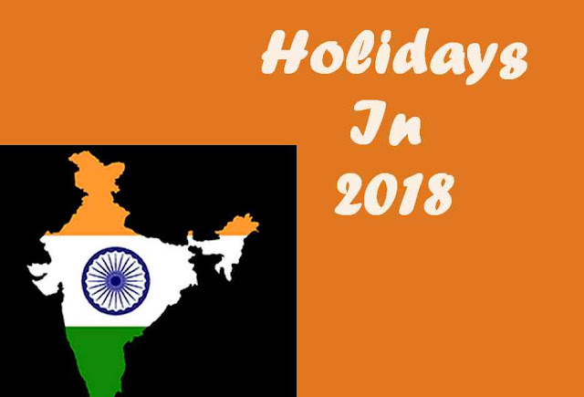 Month Wise Holiday In 2018 In India Jan To Dec