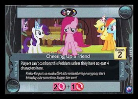 MLP Cheering Up a Friend Canterlot Nights CCG Card