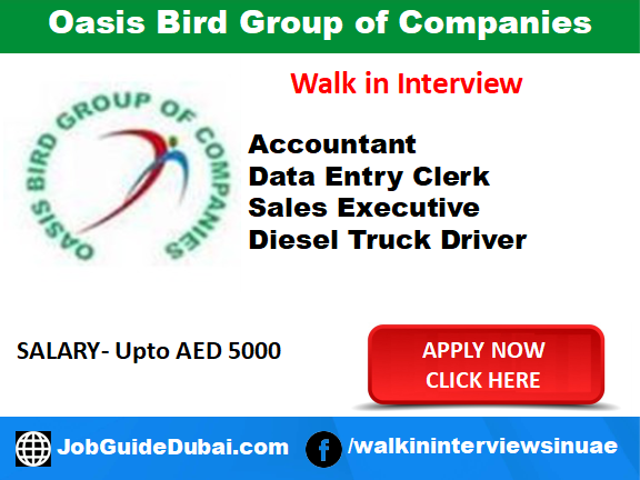 Job in Dubai for Accountant, Data entry clerk, Sales Executive and Truck Driver in ibn batuta