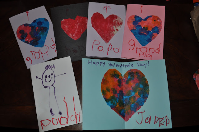 Valentine's day cards made by kids