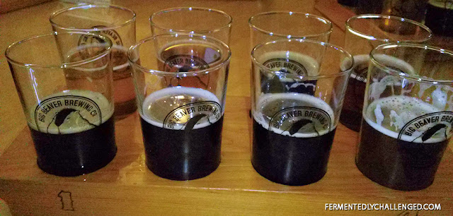Big Beaver Brewing taster tray