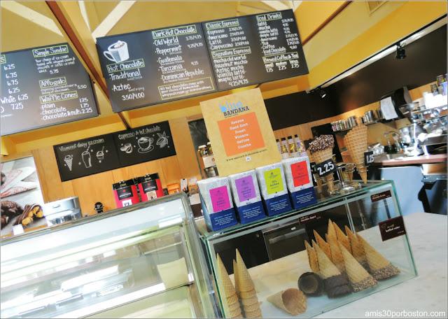 Heladería y Cafetería del Lake Champlain Chocolates, Vermont