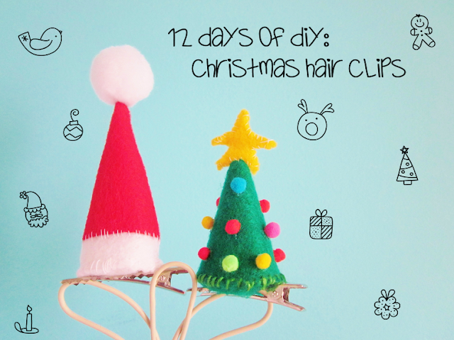 Christmas Hair Clips DIY