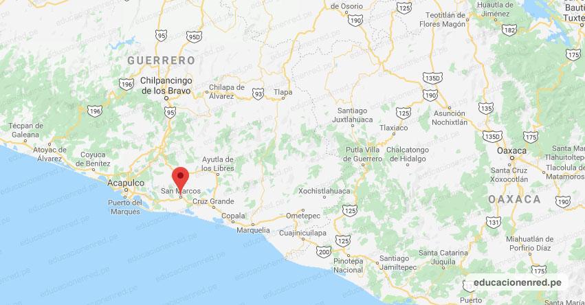 Temblor en México de Magnitud 4.1 (Hoy Viernes 22 Febrero 2019) Sismo - Epicentro - San Marcos - Guerrero - SSN - www.ssn.unam.mx