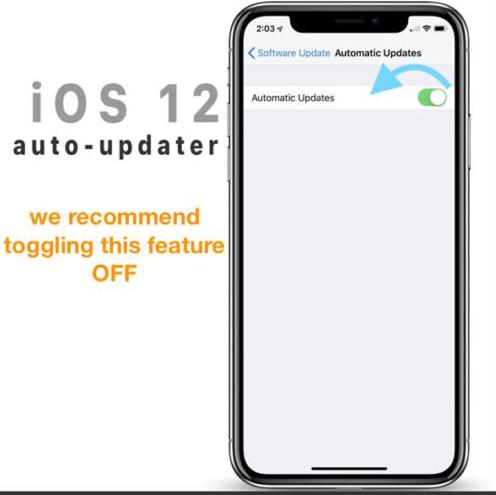 Cara Menonaktifkan Pembaruan   di IOS 12 Secara Otomatis 3