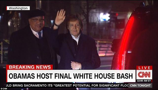 The Beatles Polska: Paul McCartney pojawił się na przyjęciu pożegnalnym u prezydenta Obamy