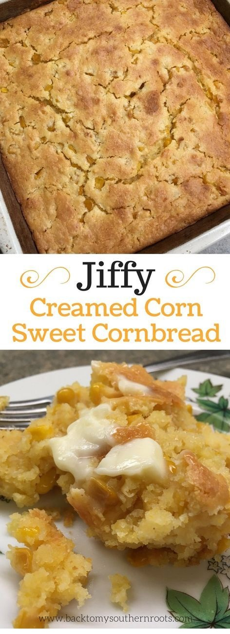 Jiffy Cornbread With Creamed Corn