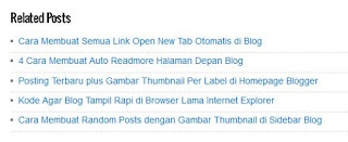 Relates Post Blogger