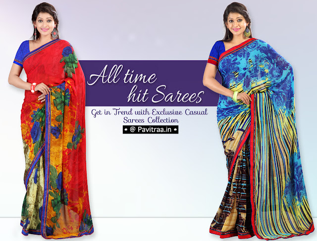 New Arrival Casual Formal Sarees Online Shopping With COD in India