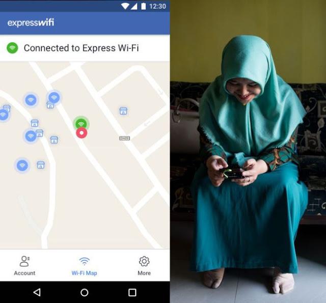 رسميا فيسبوك تطلق تطبيق Express Wi-Fi على متجر غوغل بلاي الذي يمنح أنترنت سريع ومجانا للدول الفقيرة والنامية و مع رابط تحميله
