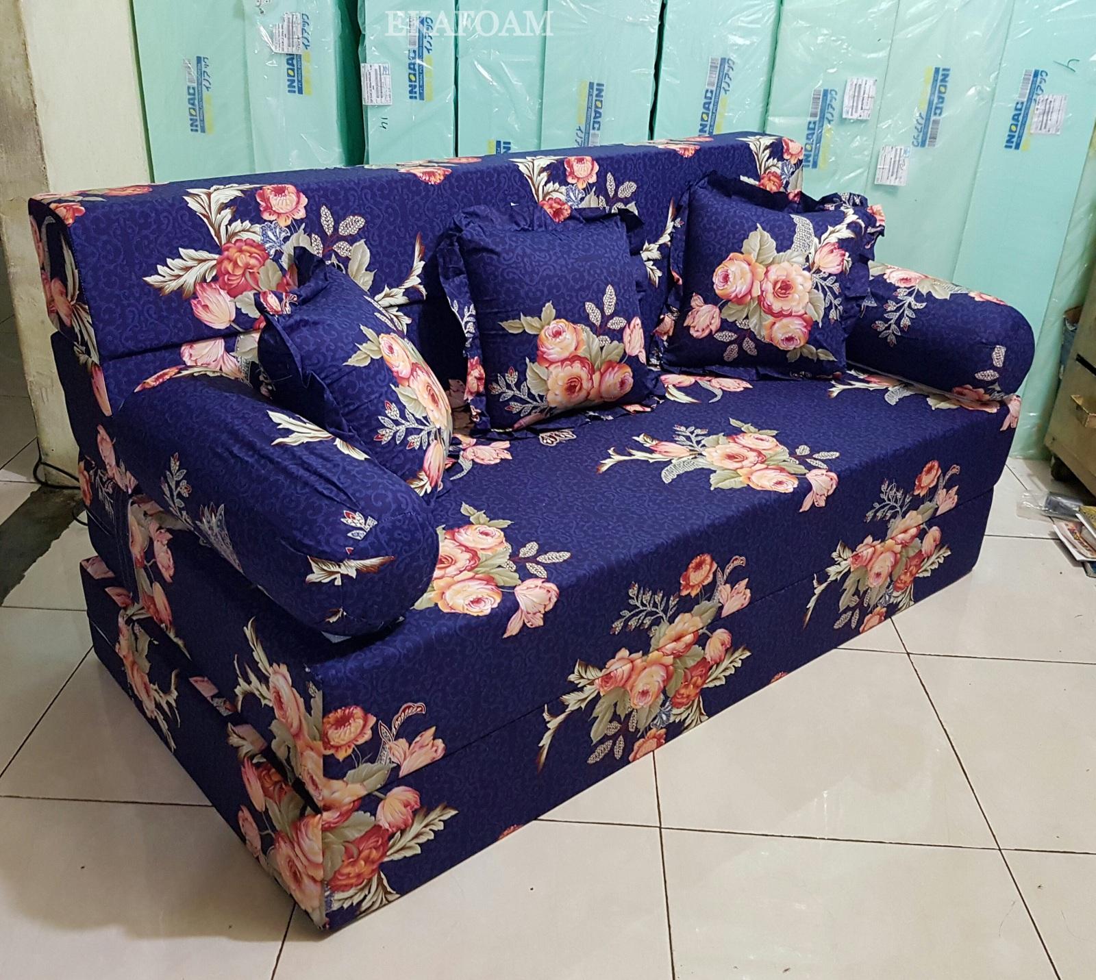 Sofa Bed Inoac 3 In 1 Black And White Striped Sectional Motif Keluarga Dewasa Agen Resmi Kasur