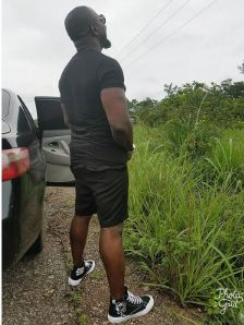 Jim Iyke took his Instagram page to apologize for Urinating by the road side