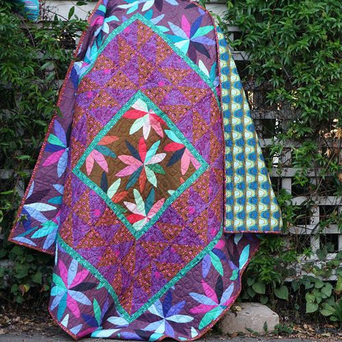 Flips Quilt Designed by Brittney Anderson, Featuring Passionflower Collection by Anna Maria Horner