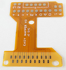 Brown flexi PCB insert for PS4 controllers for switch accessibility