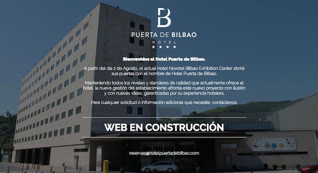 Web que anuncia la nueva gestión del hotel en Megapark