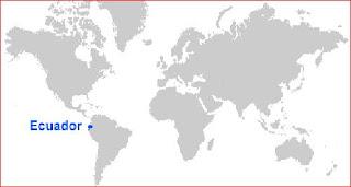 Gambar Peta letak Ekuador