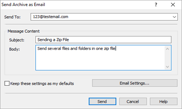 how to compact mutiple files to send in email