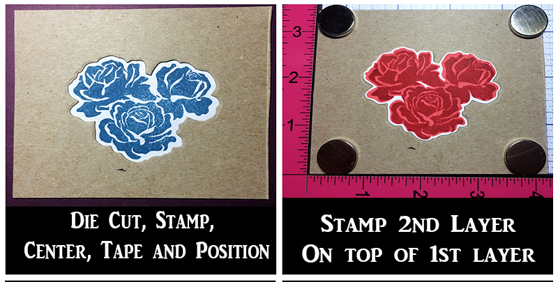 Tutorial: Stamping on Die Cuts and Layering Stamps using ...