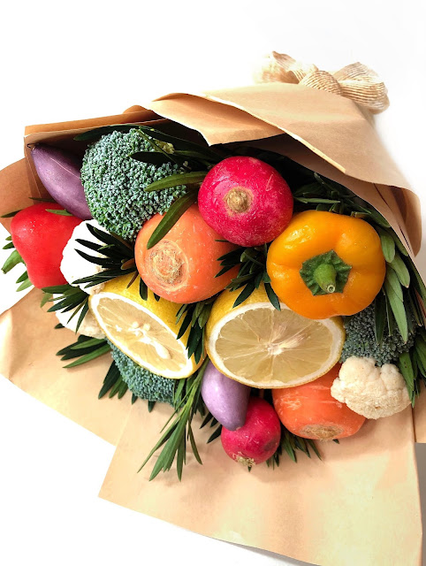 Bouquet made from organic vegetables