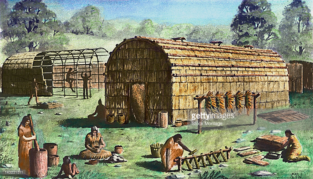 Northkill the iroquois longhouse for How long to build a house