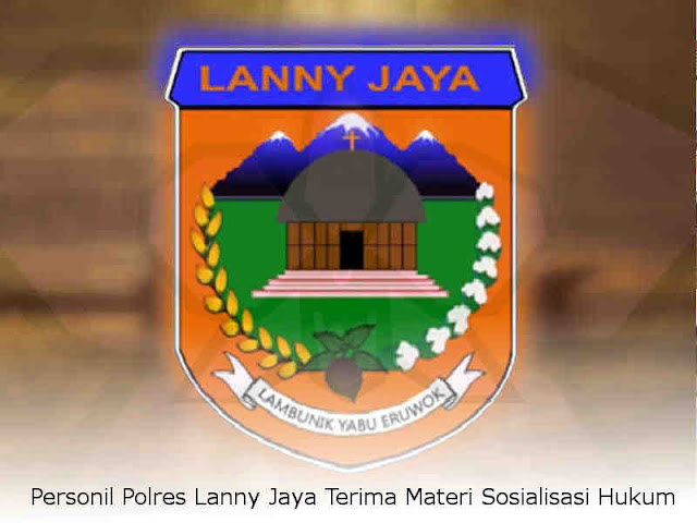 Personil Polres Lanny Jaya Terima Materi Sosialisasi Hukum