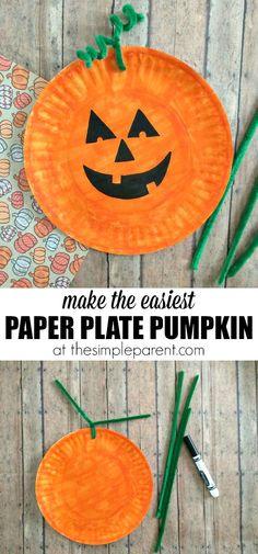 Paper plate Halloween Pumpkin