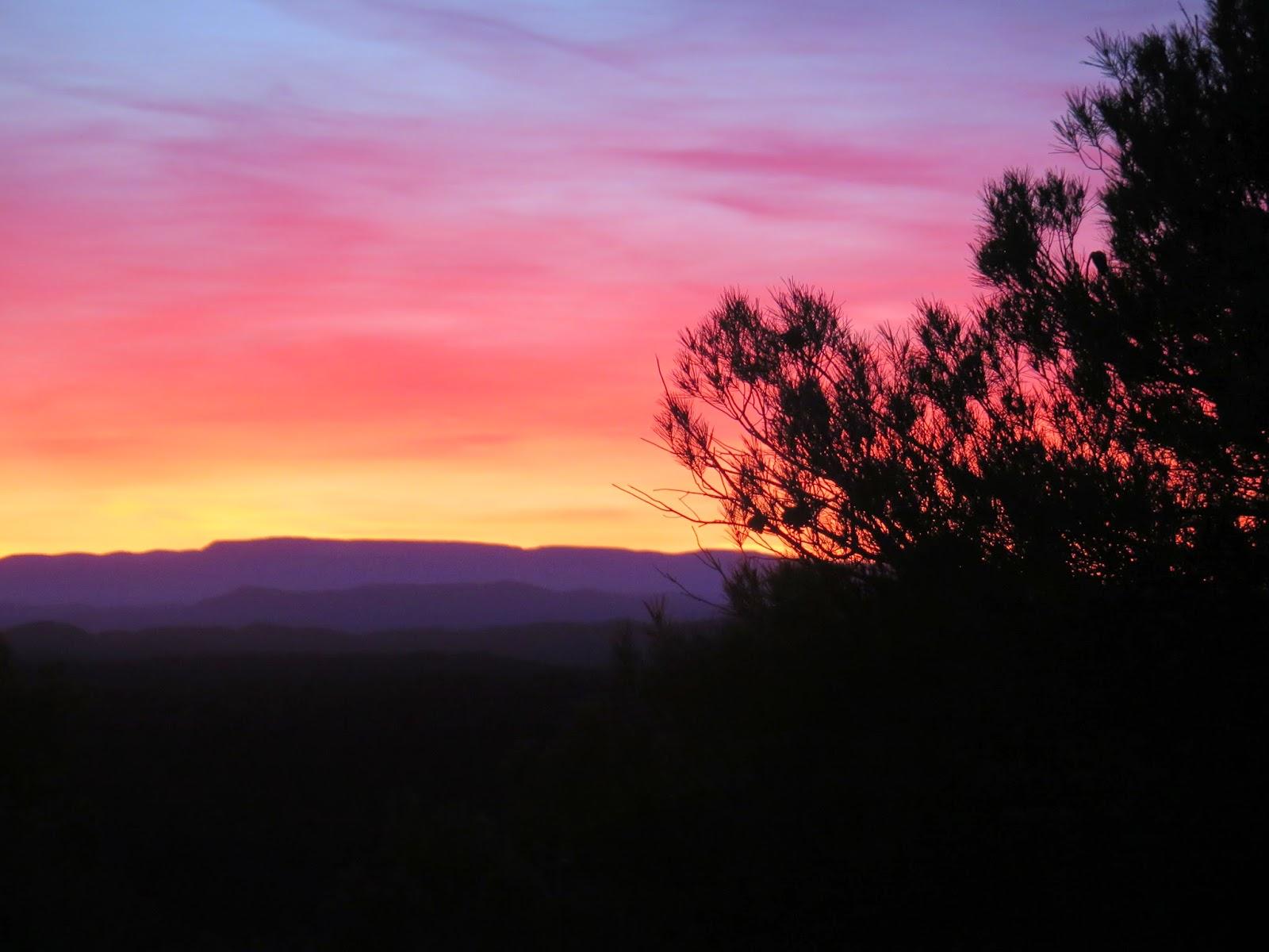 Puesta de sol en Monroyo Teruel