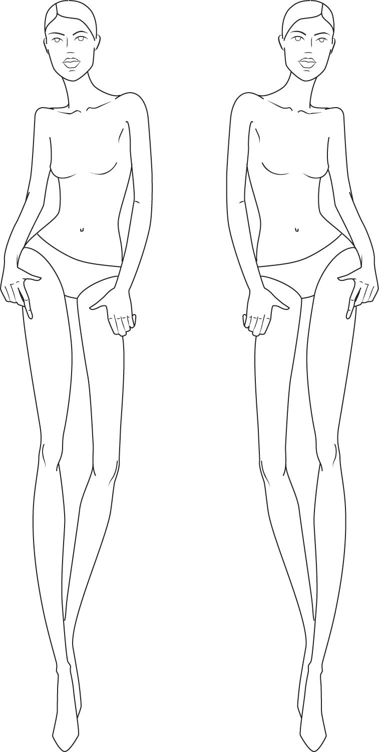 full figure croquis | Illustration Fashion Figures ...