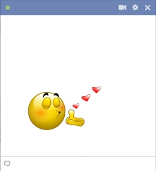 Flying Kiss Facebook Smiley