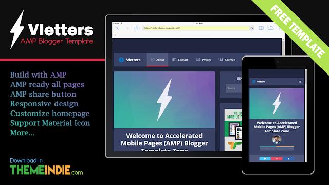 Download Template AMP Blogger Terbaru Responsive Gratis