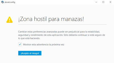 Mozilla Thunderbird - Advertencia de seguridad