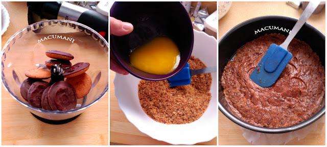 base de galletas de naranja y chocolate